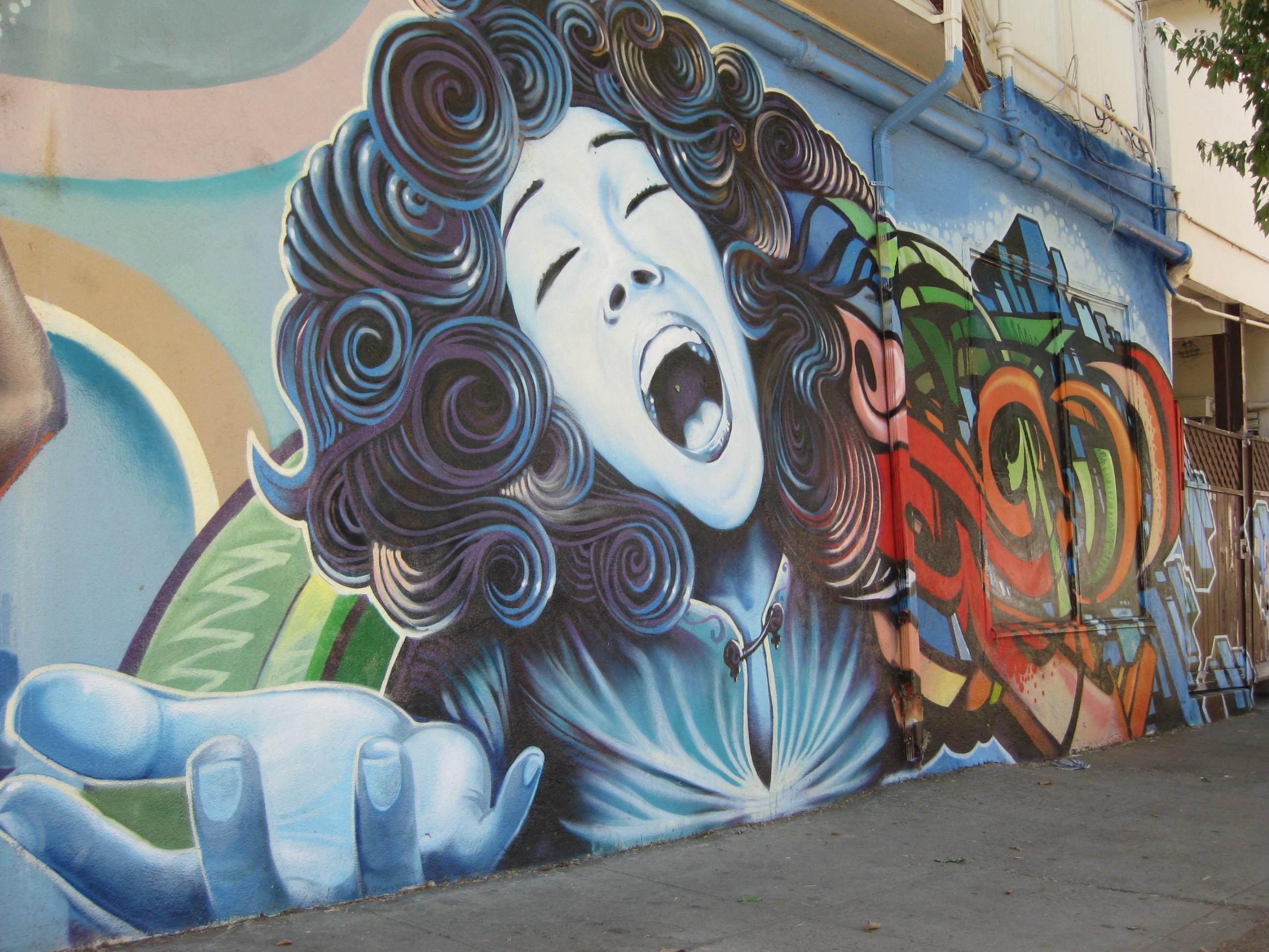 American market mural 24th n st pedestrian art for Mural tattoo